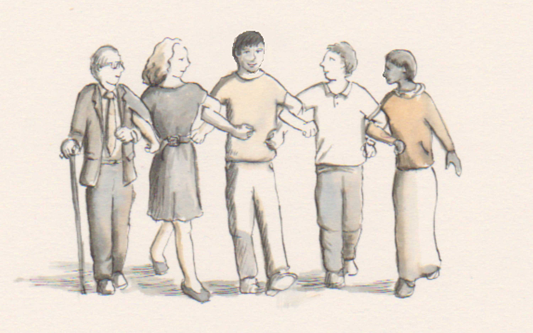 Solidarity Drawing of 5 people